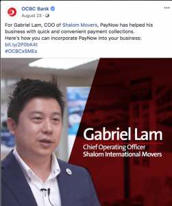 OCBC PayNow X Shalom Movers