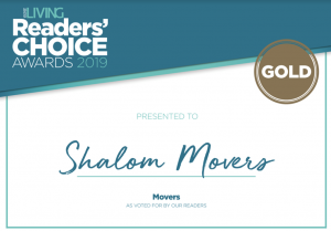 Shalom Awarded Best Moving Company