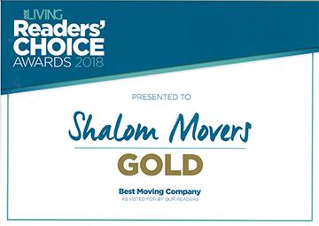 Shalom Movers Gold Awards